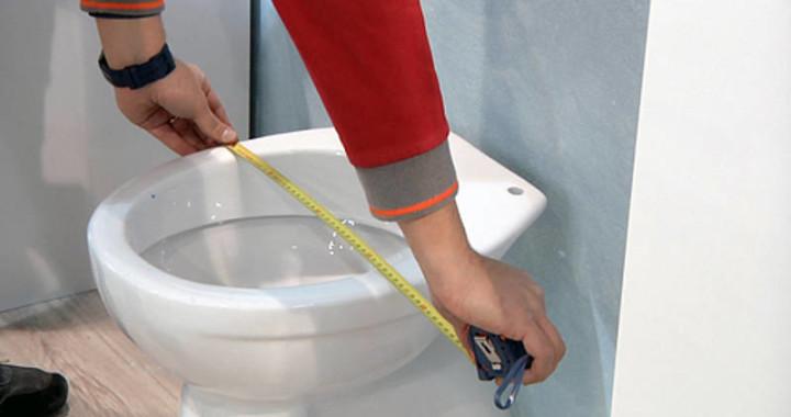 Come rilevare misure per identificare sedile WC