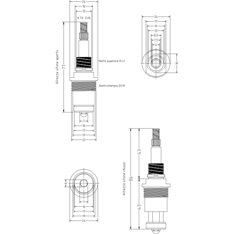 VITONE Compatibile con 1165 ROMA STELLA