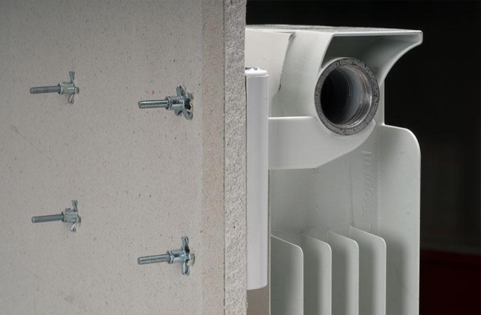Mensole radiatori alluminio pareti cartongesso for Pareti particolari in cartongesso