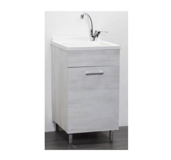 Mobile Lavatoio per interno 45x50 Rovere Bianco
