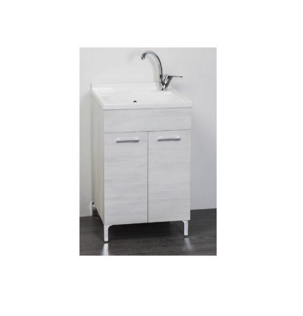 Mobile Lavatoio per interno 60x50 Rovere Bianco