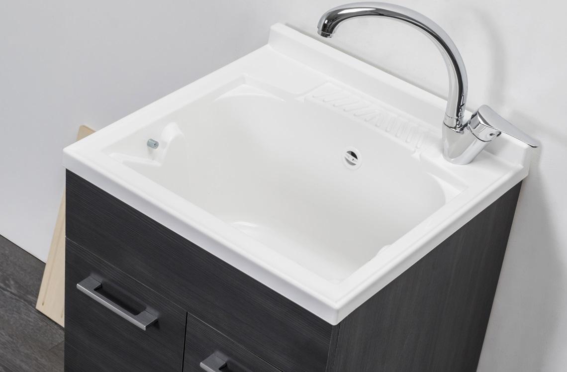 Mobile lavatoio per interno 60 50 rovere scuro ebay for Lavatoio per lavanderia ikea