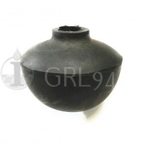 Guarnizione gomma nera diametro 65 foro passante 14