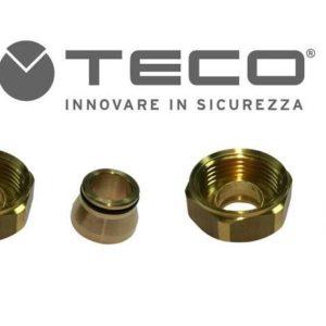 Raccordi rame a stringere attacco conico per valvola TECO