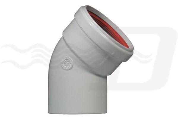 Curva 45 gradi MF Diametro 80 alluminio