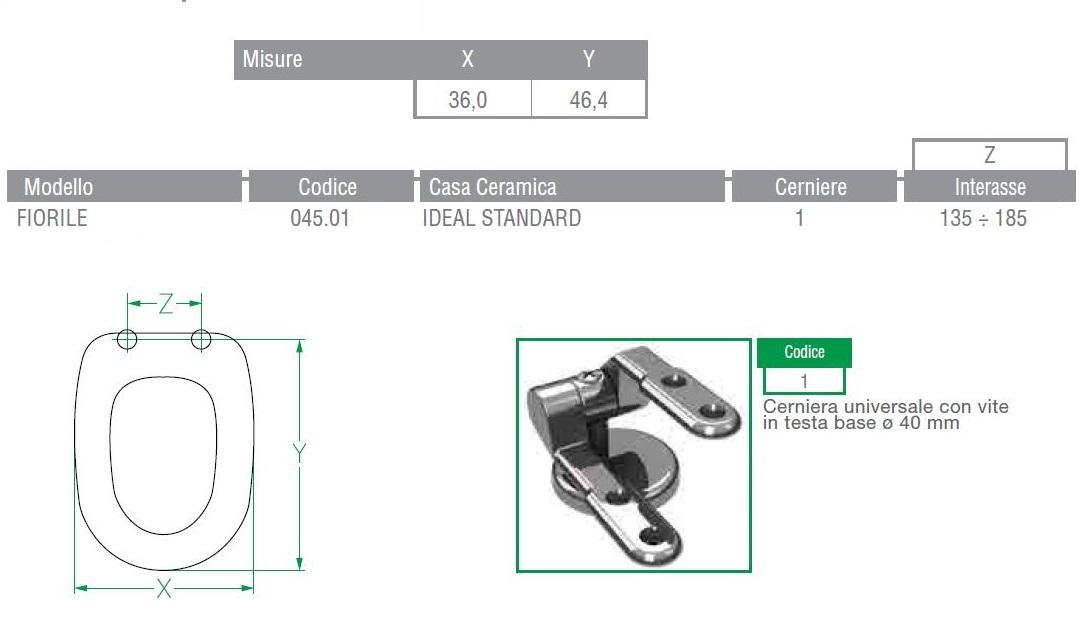 Sedile Fiorile Ideal Standard.Sedile Copriwc Novasedili Fiorile Ideal Standard Grl94 It