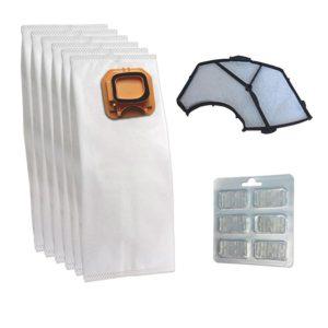 6 Sacchi filtro VK140 VK150 con 6 prof. e filtro adattabile