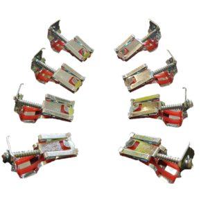 Staffe Fissaggio Lavelli Acciaio INOX kit 8 PZ