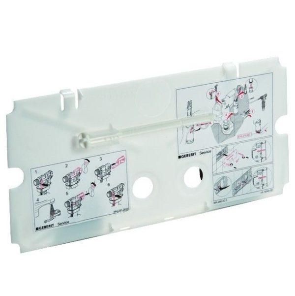 GEBERIT Placca di protezione per pulsante doppio tasto