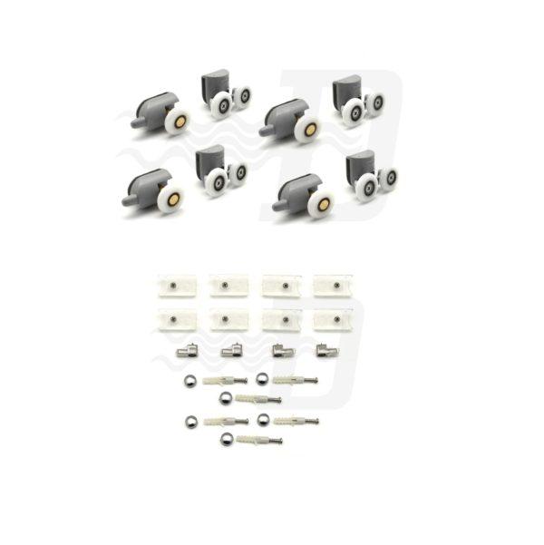 Cuscinetti ricambio con fissaggi per Box Essential kit 8pz
