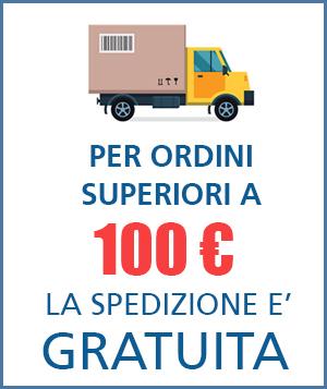 Consegne gratuite per ordini superiori ai 100€