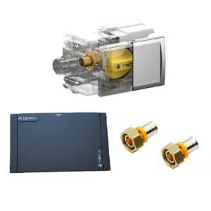TECO Valvola GAS per multistrato a pinzare e placca NERA