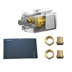 TECO Valvola GAS per rame a saldare e placca NERA